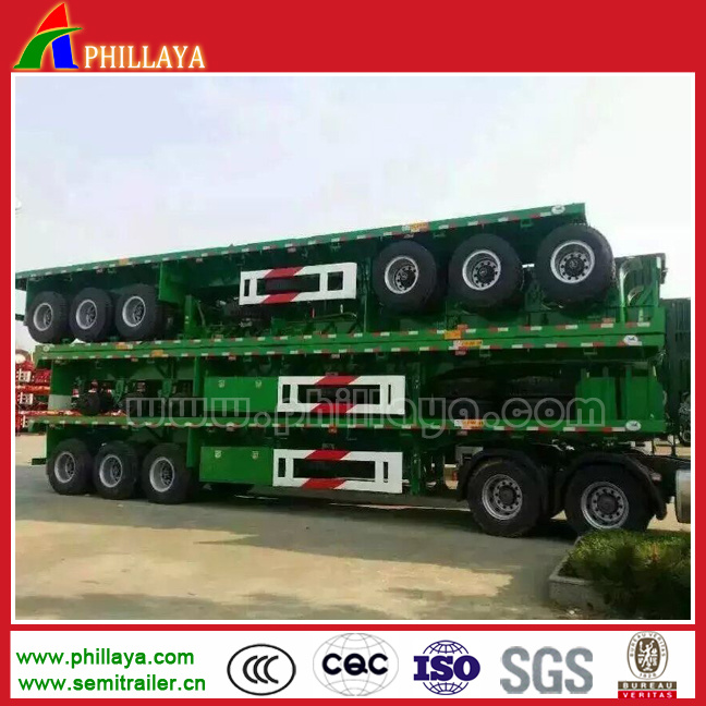 3 Axle Platform Flatbed Container Transport Truck Trailers