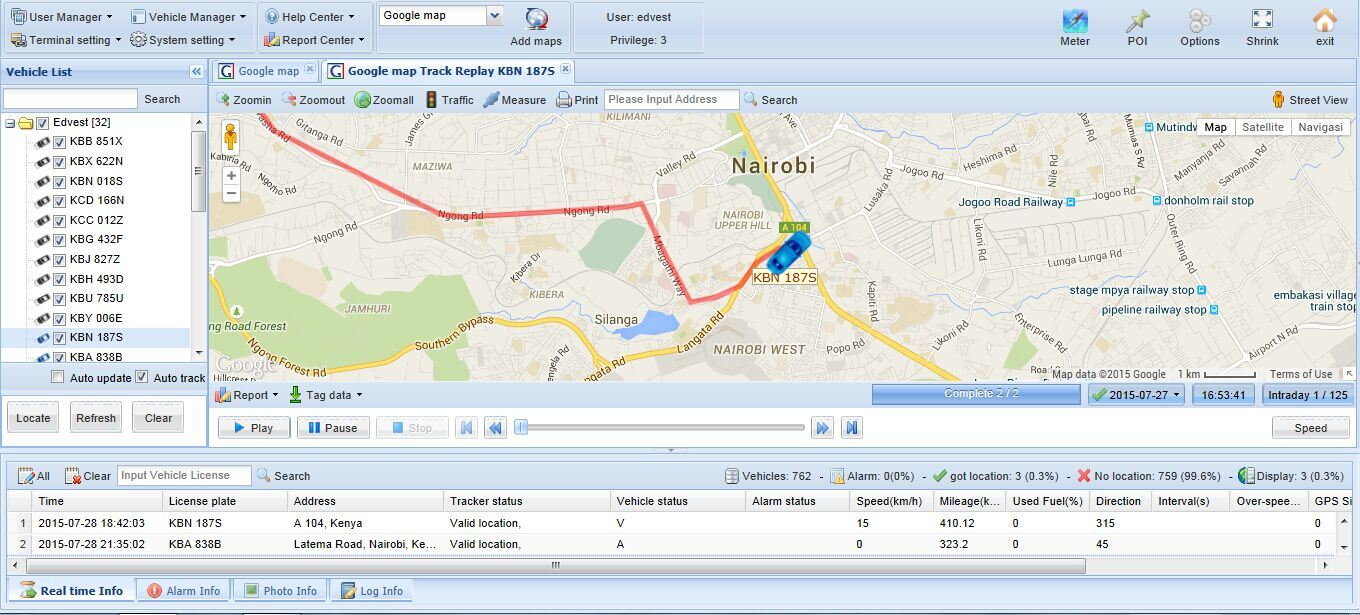 GPS Tracking Software for Vehicle Tracking Manufacturer