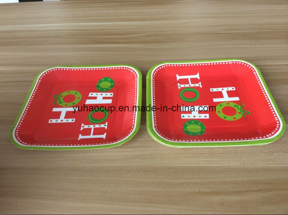 Coloful Disposable Paper Plate, Biodegradable Paper Plates