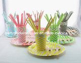 Colorful Wedding Decoration Chevron Design Party Tableware