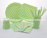 Professional Manufacturer of Green Color Chevron Design Tableware