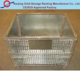 Folding Warehouse Logistic Trolley Roll Wire Mesh Storage