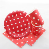 Red Polka DOT Party Tableware Set