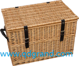 Willow Picnic Basket and Wicker Storage Basket with Lid