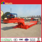 Crane Gooseneck Low Bed Loader Heavy Duty Hydraulic Trailer