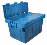 Nestable Plastic Crate for Logistics with Lid