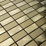 300X300mm Gold Color Metalic Mosaic Tile / Wall Decoration