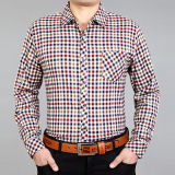 Men's Business Long Sleeve Check Dress Shirt