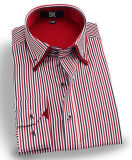 Men's Business Wrinke Free Striped Double Collar Shirt