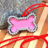 Pink Cute Bone Shape Pet Charm
