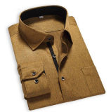 Men's Business Wrinkle Free Long Sleeve Piping Dress Shirt