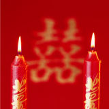 OEM New Red Color Flame Wedding Art Candle