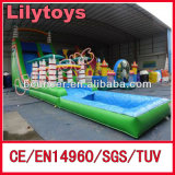 Rain Forest Inflatable Giant Water Slide, Inflatable Jungle Water Slide