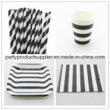 Striped Disposable Party Paper Tableware