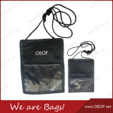 Promotional Waterproof Travel Document Neck Hanging Purse/Wallet