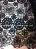 Fashion Design African French Lace Fabric for Dress Cl725-1 Black