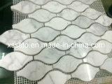 Hotsale White Carrara Marble Mosaic Pattern for Wall Decoration