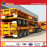 20ft 40ft Truck Semi Platform Container Flatbed Trailer