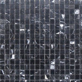 Popular Black Marquina Marble Mosaic Wall for Bathroom Decoration
