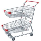 Double Baskets Shopping Trolley (JS-TBT07)