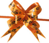 Printed Bee PP Ribbon Butterfly Pull Bow