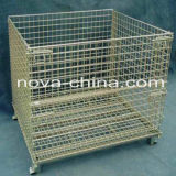 Warehouse of Mesh Box Wire Cage Metal Bin Storage