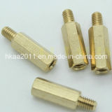 Custom Machining Brass Hex Male Thread Standoff Bolts and Screws