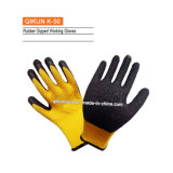 K-50 Pollycotton Crinckle Latex Coated Cotton Working Gloves