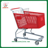 Supermarket Trolley with Red Plastic Basket (JT-E03)