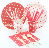 Red Theme Hot Dance Party Party Tableware