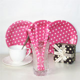 Colorful Design Disposable Paper Tableware