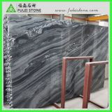 Beautiful High Polished Wooden Grey Marble