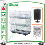 Large Stacking Wire Basket Display Cage and Storage Cage