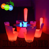 Lighting LED Chair and Table Round LLDPE Plastic Material Cheap Price for Bar Party Retal Wedding