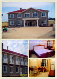 Prefabricated/Prefab House/Building with PVC Cladding Sheet Decoration