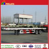 3 Axles 40ft Semi Container Flatbed Trailer