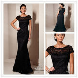 Mermaid Black Lace Mother of The Bride Dresses