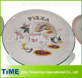 Porcelain Pizza Plate with Decal (TM0506)