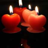 OEM New Love Heart Shape Art Candle