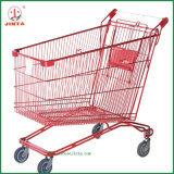 Powder Coated Red Russian Style Shopping Trolley (JT-E05)