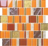 Orange&Gold Metallic Glass Mosaic with Ripple in 2015