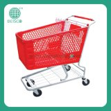 Durable Plastic Shopping Cart with CE & Guarantee (JS-TPT)