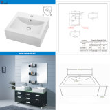 Upc Approved Ceramic Bathroom Vessel Sinks (SN112-037)