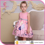 Special Cotton Girl Frock Children Dresses with Belt