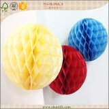 Tissue Paper Christmas Hanging Honeycomb Decoration