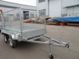 8'x5' Heavy Duty Galvanized Tandem Box Trailers with Cage