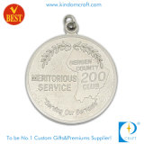 Personalized Die Casting Shiny Silver Medal for Gift