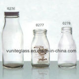 200ml-400ml High Clear Glass Milk and Pudding Bottles Glass Bottle Milk Glassware