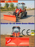Everun 1.5ton Mini Shovel Loader with Snow Blade