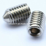 Machined Stainless Steel Hex Socket Insert Cone Point Grub Screw